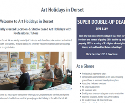Website Designed for Art Holidays in Dorset