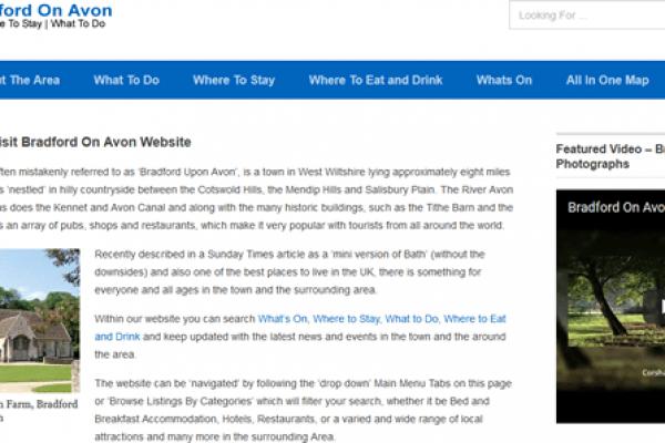 Visit Bradford on Avon Website Design