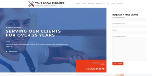 Local Plumber Website Design
