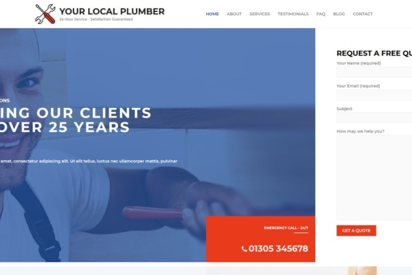 Local Plumber Website Design